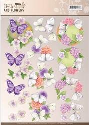 A4 Knipvel Jeanine CD11002 Classic Butterflies and Flowers
