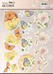 A4 Knipvel Jeanine CD11001 Classic Butterflies and Flowers