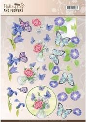 A4 Knipvel Jeanine CD11000 Classic Butterflies and Flowers
