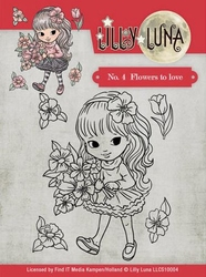 Yvonne Lilly Luna 1 Clearstamp LLCS10004 Flowers to Love