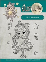 Yvonne Lilly Luna 1 Clearstamp LLCS10003  Little Star