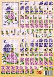 A4 Knipvel Carddeco Bloxxx BLX10013 Paars/lila bloemen
