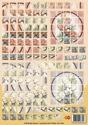 A4 Knipvel Carddeco Bloxxx BLX10004 Bloemen in cirkel