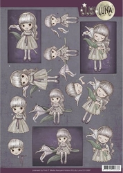 Yvonne Lilly Luna 1 3D Knipvel CD10997 Missing you dearly