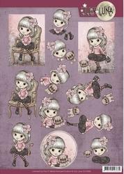 Yvonne Lilly Luna 1 3D Knipvel CD10995 Beautiful in pink