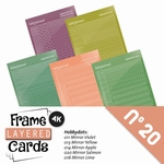 Stickerset LCST020 voor Layered frame cards 20/- 4-kant