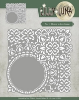 Yvonne Lilly Luna 1 Die LL10001 Flowers to love frame