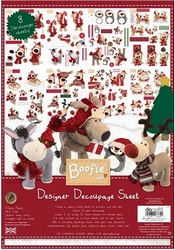Boofle Christmas BOF169021 Designer Decoupage Sheet
