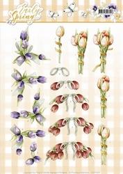 3D Knipvel Marieke Early Spring CD11025 Early Tulips/tulpen