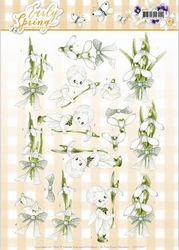 3D Knipvel Marieke Early Spring CD11027 Early Snowdrops