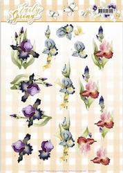 3D Knipvel Marieke Early Spring CD11024 Early Irises/irissen