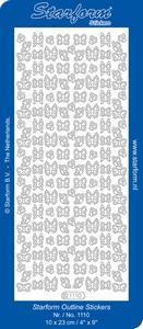 Sticker Dieren Starform 1110  Kleine Vlinders