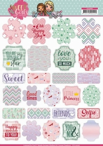 Labels Yvonne Creations YCL10006 Sweet Girls
