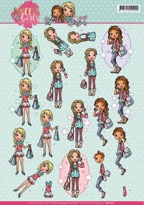 3D Knipvel Yvonne Creations CD11012 Sweet girls My World