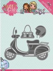 Yvonne's Cut & Embos Die YCD10120 Sweet Girls Scooter