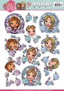 3D Push Out Yvonne Creations SB10224 Sweet Girls