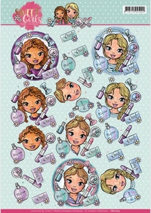 3D Knipvel Yvonne Creations CD11013 Sweet girls