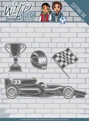 Yvonne's Cut & Embos Die YCD10117 Wild Boys Racing