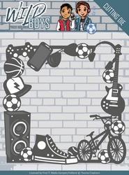 Yvonne's Cut & Embos Die YCD10116 Wild Boys Gadget Frame