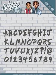 Yvonne's Cut & Embos Die YCD10118 Wild Boys Solid Alphabet