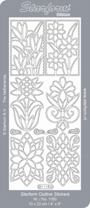 Stickervel Starform Outline 1118 Bloem/ornament