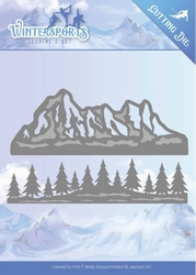 Die Jeanines Art JAD10029 Wintersports Mountain Border