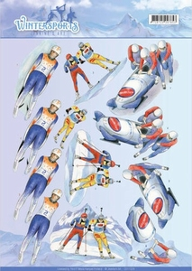 A4 Knipvel Jeanines Art CD110028 Wintersports