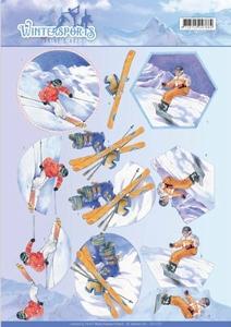 A4 Knipvel Jeanines Art CD110031 Wintersports Snowfun
