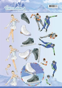 A4 Knipvel Jeanines Art CD110030 Wintersports Ice Skating