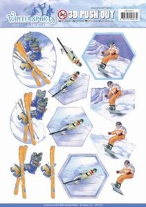 A4 Pushout Jeanines Art SB10230 Wintersports Snowfun