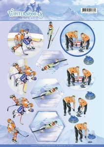 A4 Knipvel Jeanines Art CD110029 Wintersports Ice Hockey