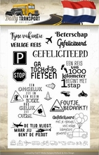 Amy Design Clearstamp ADCS10036 Daily Transport tekst