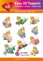 Easy 3D Toppers HC10497 Paaskuikens/Easter chicks