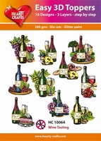 Hearty Crafts Easy 3D Toppers HC10064 Wijn/Wine tasting