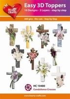 Hearty Crafts Easy 3D Toppers HC10480 Condolence kruis