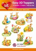 Easy 3D Toppers HC10489 Paashaas/Easter bunnies