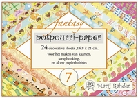 Boekje achtergrond Marij Rahder Potpourri MRP07 Fantasy