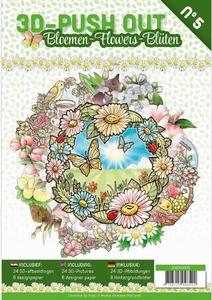 A4 Push Out Book 3D PO10005-NL Bloemen
