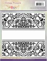 Embossing folder Jeanine JAEMB10005 Vintage Flowers