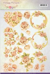 A4 Knipvel Jeanine CD11045 Vintage Flowers Romantic Vintage