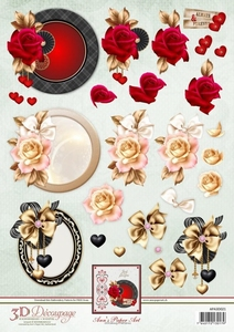 3D Knipvel Ann's Paper Art APA3D021 Love Frames