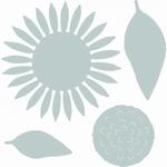Sizzix thinlits die set 662508 Sunflower by Sharon Drury