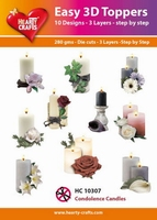 Hearty Crafts Easy 3D Toppers HC10307 Condoleance/condolence