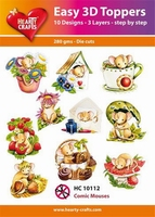 Hearty Crafts Easy 3D Toppers HC10112 Muisjes/comic mouses