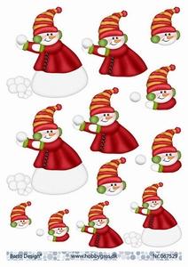 A4 Knipvel Barto Design 67529 Sneeuwpop
