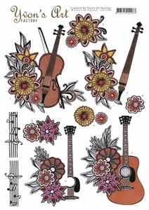 3D Knipvel Yvon's Art Factory CD11090 Music/muziek