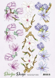 A4 knipvel Doortjes Design CD11051 Flowers/magnolia