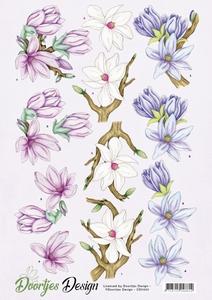 A4 knipvel Doortjes Design CD11051 Flowers/magnolia