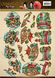 3D Knipvel Amy CD11073 Oriental Landscapes/landschappen