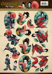3D Knipvel Amy CD11076 Oriental Geishas
